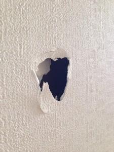 壁穴補修工事