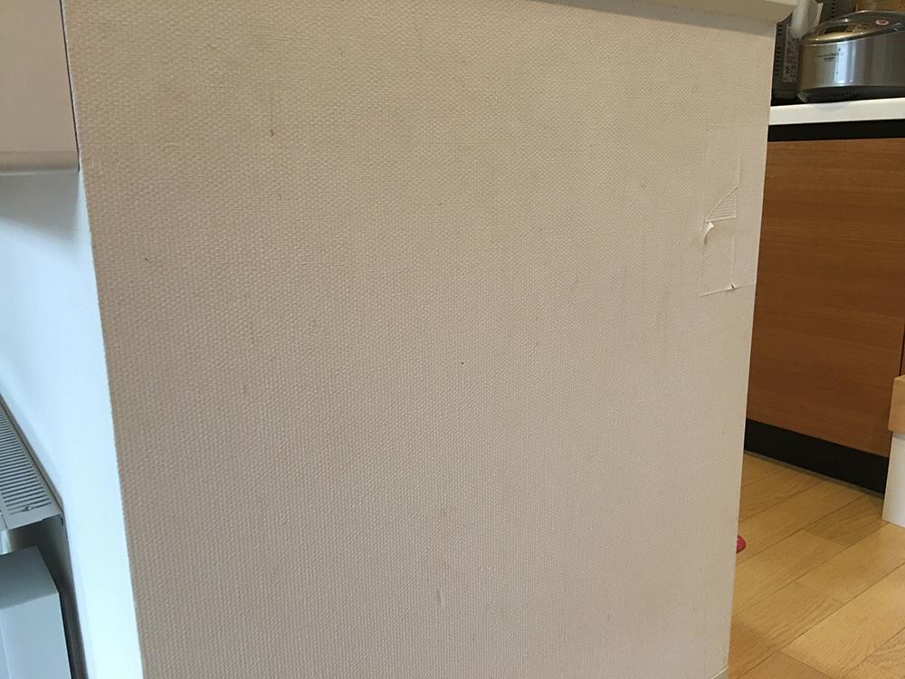 キッチンカウンター壁紙張替