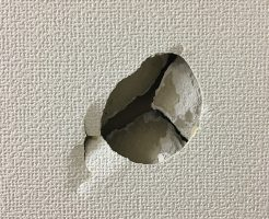 札幌市東区 壁穴