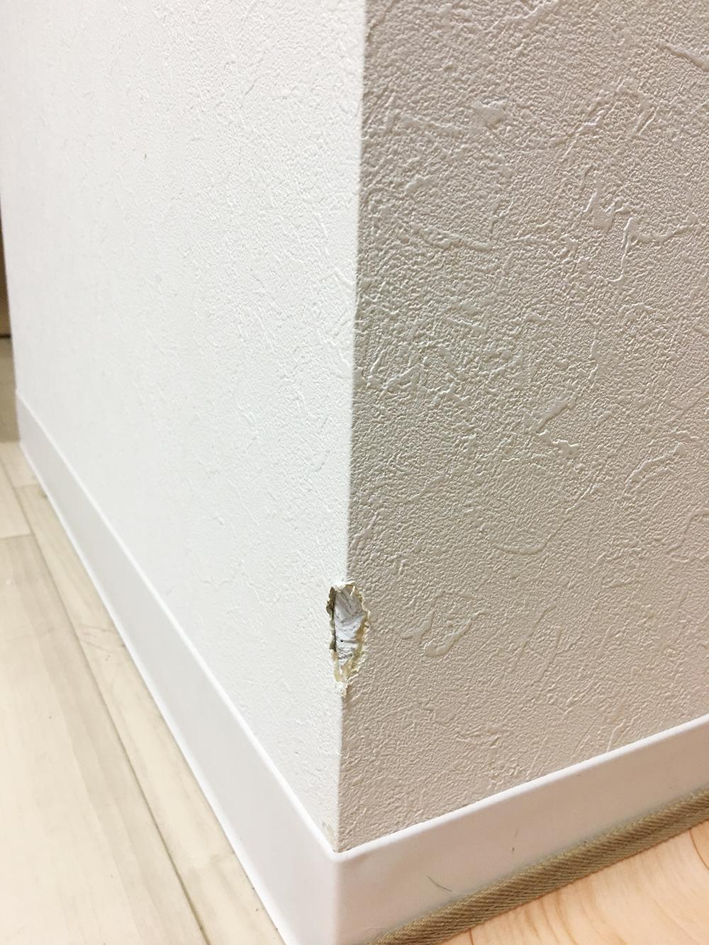 壁の角補修工事