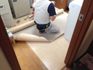 床材の張替工事