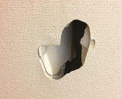 マンション壁穴補修